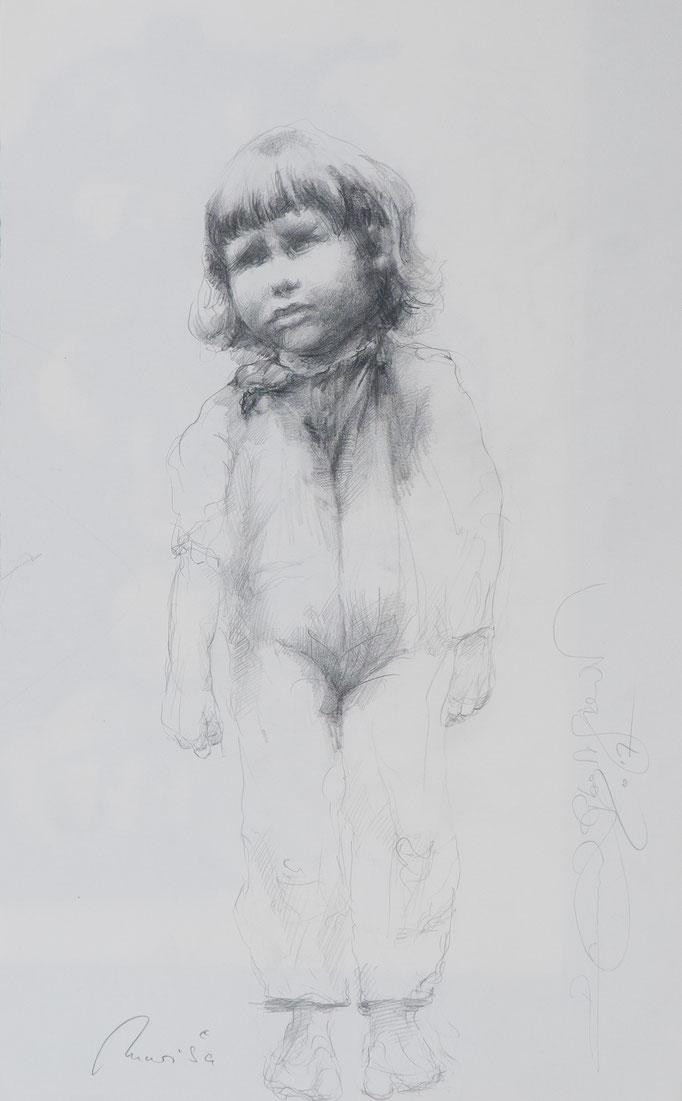 Marisa, 2017, 44,5x27,5  ,Graphit/Papier, S11                       ©Raimund Egbert-Giesen