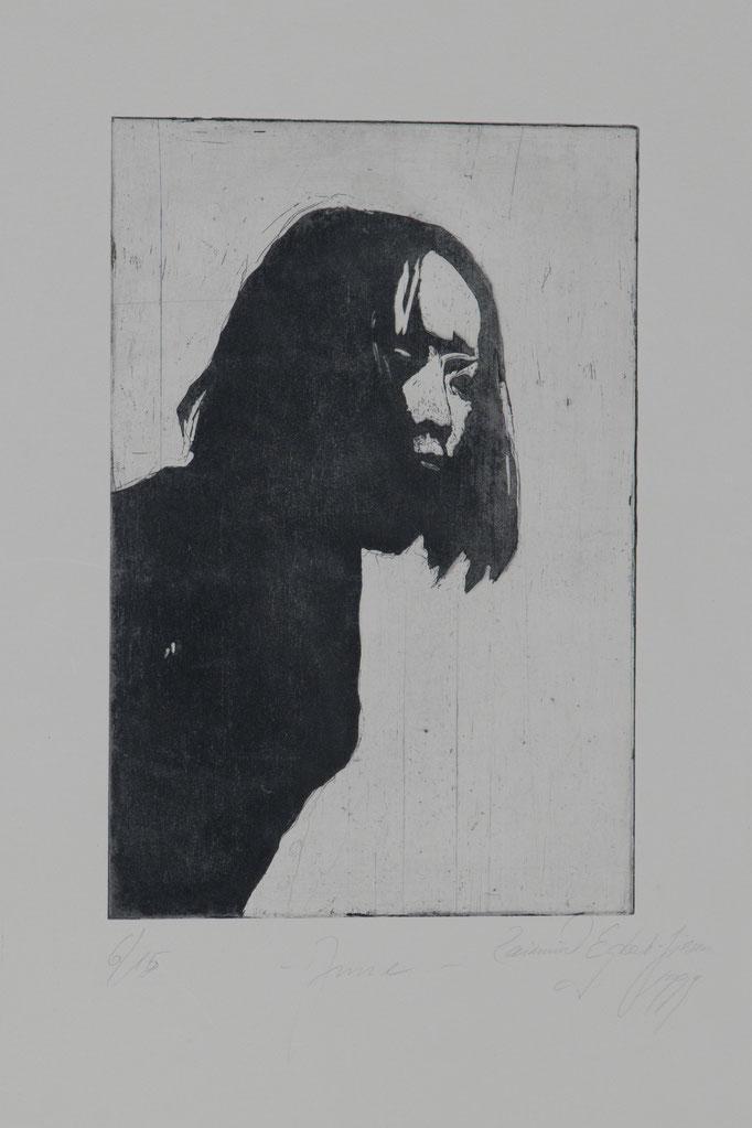 Anne, 1999, 29,5x19,5, Radierung/Bütten, R16                                  ©Raimund Egbert-Giesen
