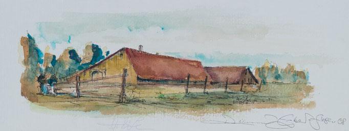 Höfe, 2008, 50x20, Aquarell, N29                       ©Raimund Egbert-Giesen