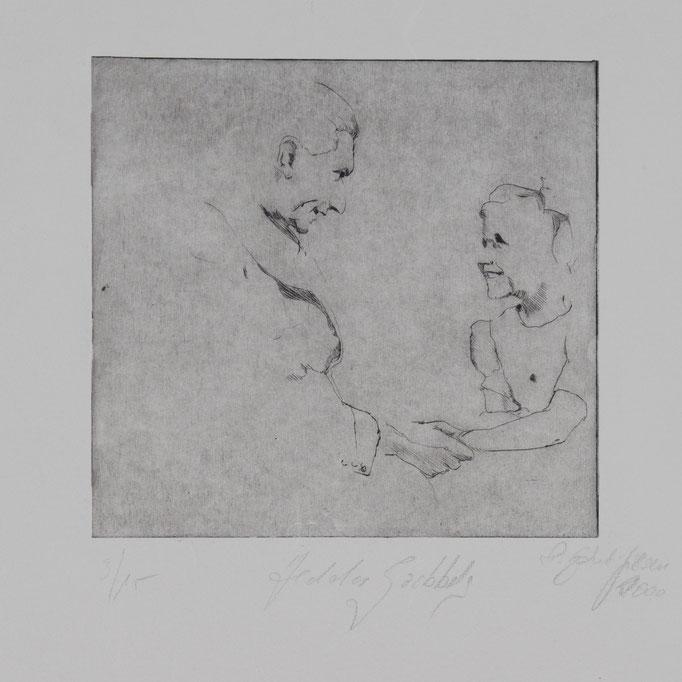 Hedda Goebbels, 2000, 26x19,5, Radierung/Bütten, R13                                  ©Raimund Egbert-Giesen