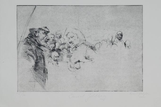 David Goldberg, 2000, 39x27, Radierung/Bütten, R12                                  ©Raimund Egbert-Giesen