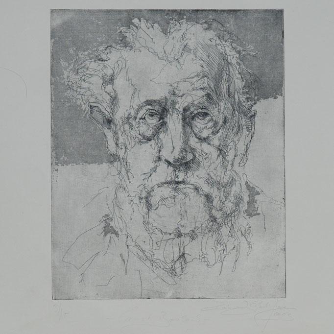 Ernst Barlach, 2003, 29,5x24 , Radierung/Bütten, R14                                  ©Raimund Egbert-Giesen