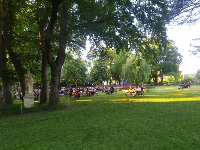"gemütlicher Biergarten ""Schützengarten"", 01.06.21"