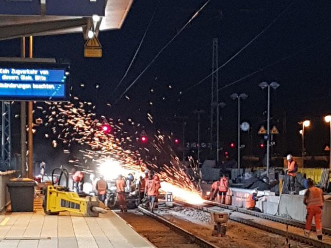 Gleisbauarbeiten, Rosenheim 06. Aug.'21