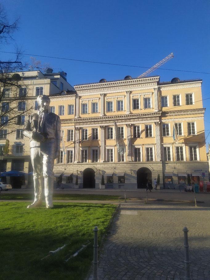 Graf Montgelas Alu-Statue