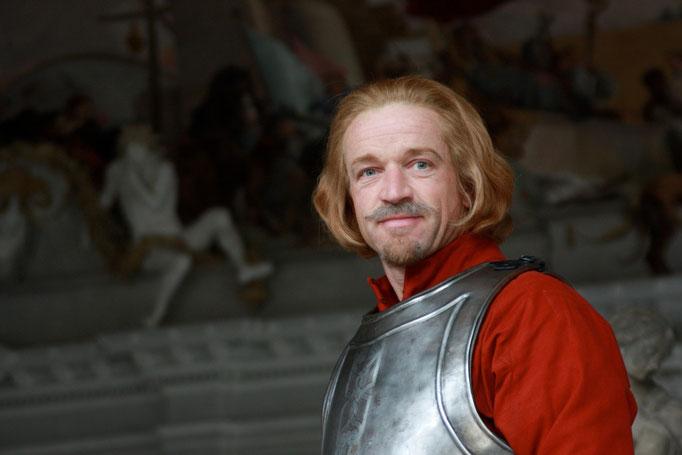"""09/2010 lichtdouble für christoph waltz """"cardinal richelieu"""", regie: paul w.s. anderson, constantin film gmbh"""