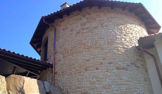 Fassadengestaltung Mix Piedra Molino