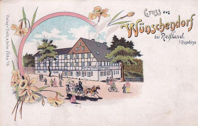 Wünschendorf Erzgebirge Wünschendorf um 1900