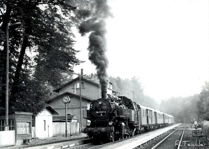 Wünschendorf Erzgebirge Foto: R.Heinrich 1984   Karte: Archiv Teichler