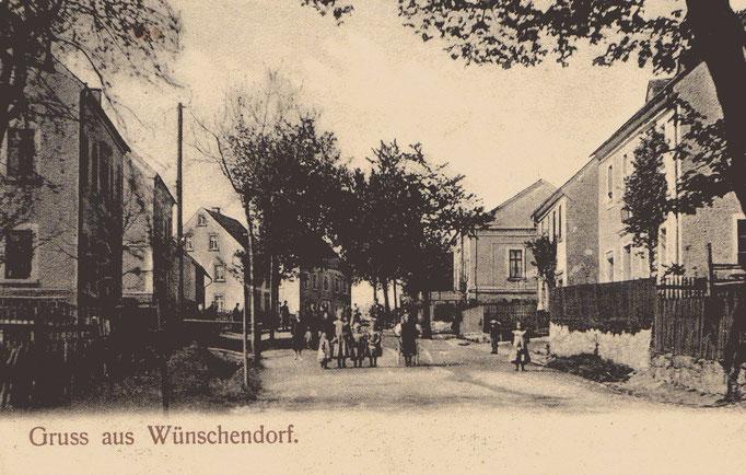 Wünschendorf Erzgebirge Wünschendorf um 1920  Karte: Archiv Teichler