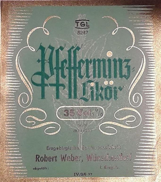 Etikett Robert Weber Wünschendorf