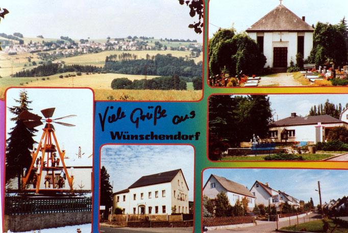 Wünschendorf  Karte v. Östreich Lengefeld