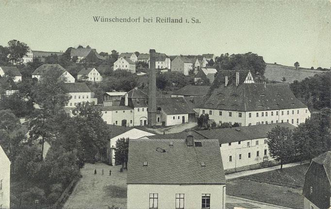 Wünschendorf Erzgebirge Wünschendorf mit Rittergut  1908