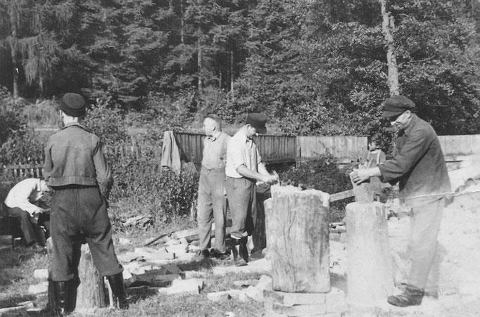 """Das Baumaterial wurde zum Teil aus dem Abbruch der """"Alten Seifertmühle"""" gewonnen"""
