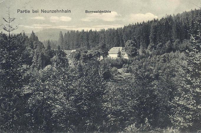 Wünschendorf Bornwaldmühle um 1910