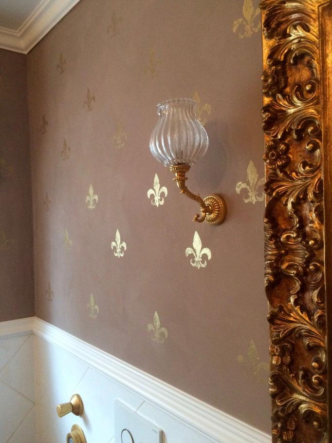 """Gestaltung von Wänden mit Stuck - Kalkfarbengestaltung """"Annie Sloan"""""""