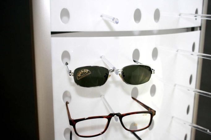 gelaserte Aussparungen für Brillen
