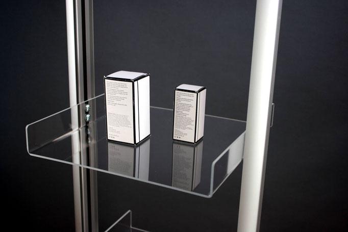 Acryl-Etagen für Produktpräsentation