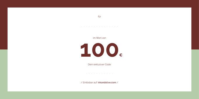 Geschenkgutschein 100 Euro- Rückseite