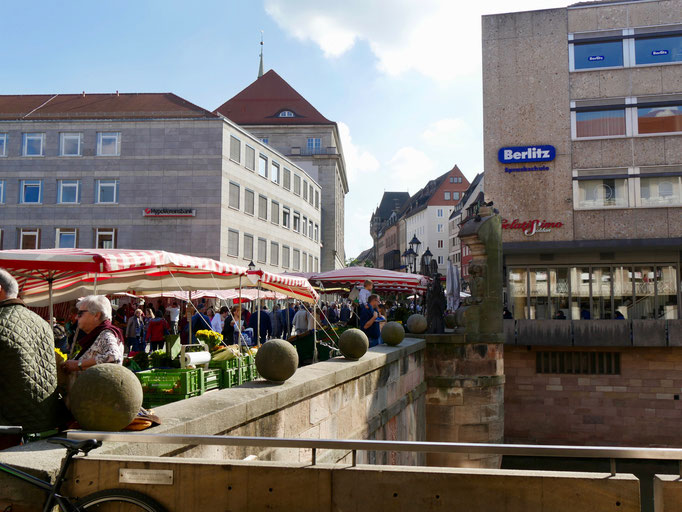 Nürnberg Museumsbrücke Sehenswürdigkeiten Deutschland Nürnberg