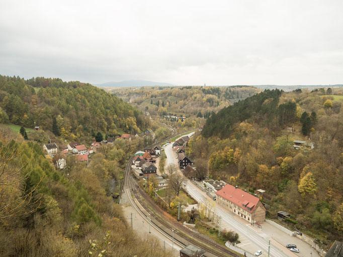 Bild: Blick auf Rübeland vom Schornsteinberg