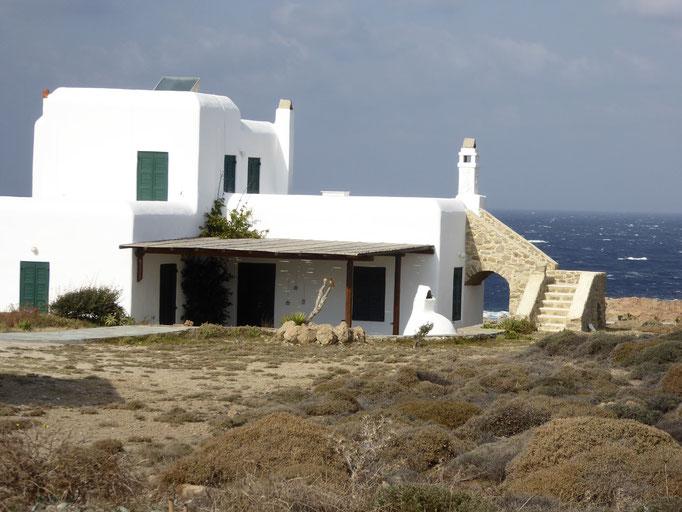 Bild: Kubisches Haus auf Mykonos
