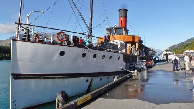 "Bild: Die alte Steamer ""Earnslaw"""