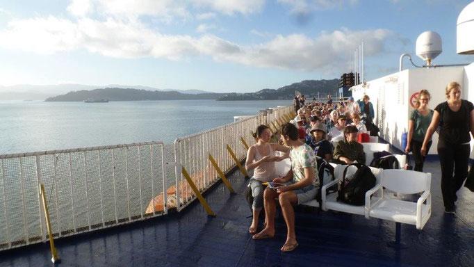 Bild: Von der Nordinsel Neuseelands mit der Fähre zur Südinsel