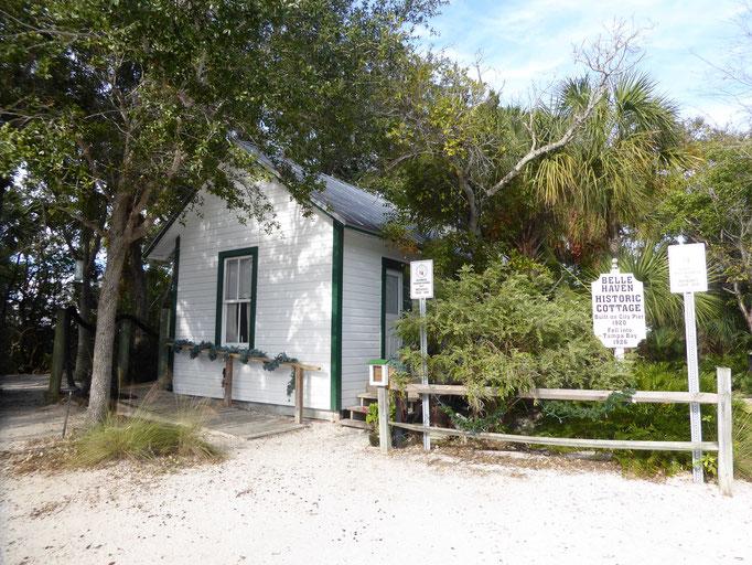 Das alte Belle Haven Cottage im Historischen Park von Anna Maria Island