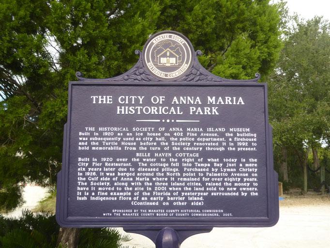 Die Informationen zum Historischen Park