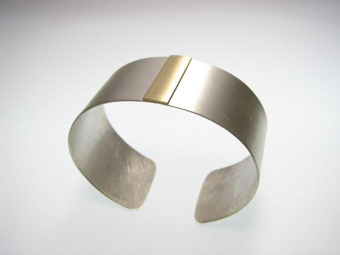 Armspange in Silber mit Gold
