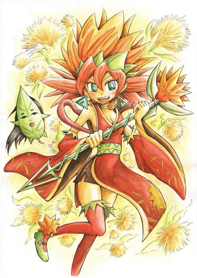 紅花少女クレナ(2012 2.5次元てれび「魔法少女大戦」イラコン)