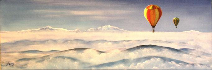 N° 25 Au dessus des nuages      Christian Argoud              Acrylique