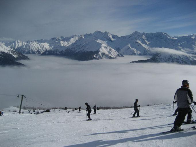 Schifahren auf der Bergeralm