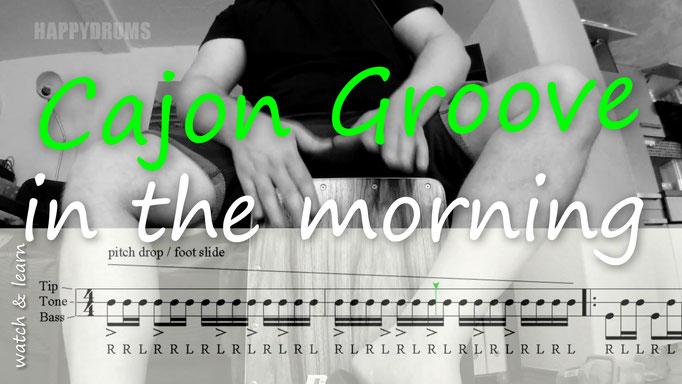 cajon morning groove