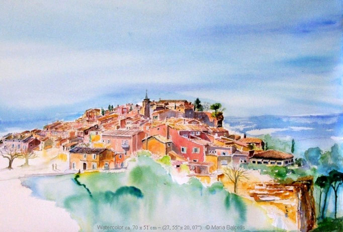 ROUSSILLON - AQUARELL