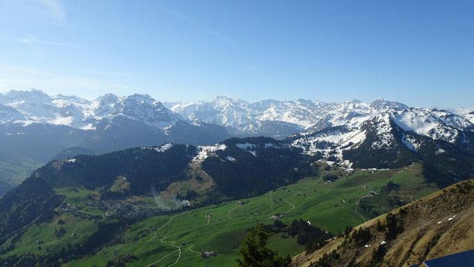 Panorama in die Alpen