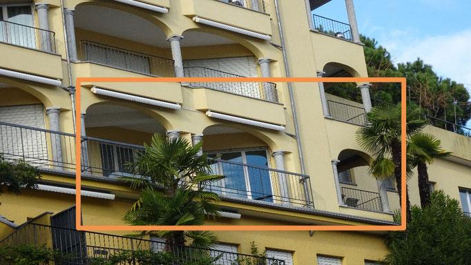 Blick auf unsere 2 Balkone