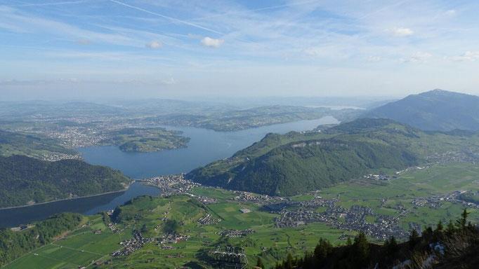 Blick Richtung Luzern und Zug