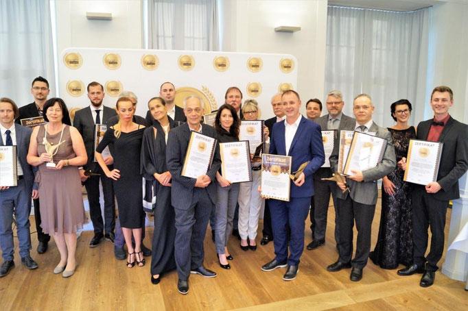 """TILISCO GmbH im Kreise der Ausgezeichneten (Quality Award """"Lorbeer des Experten, 2018)"""