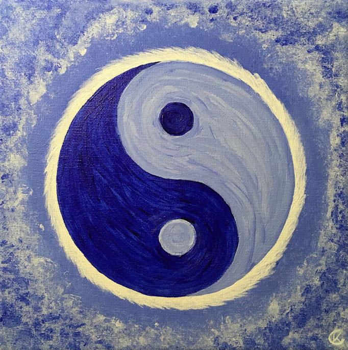 Energiebild - YinYang in blau