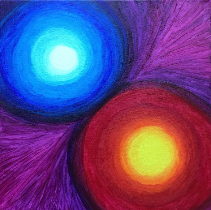 Energiebild - Mond und Sonne