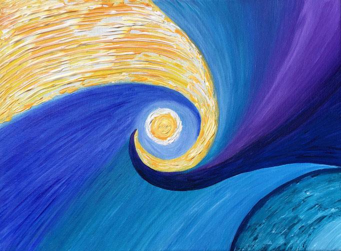 Energiebild - Das Licht hebt die Erde aus der Dunkelheit