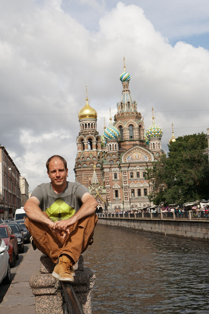 Die Auferstehungskirche nach Moskauer Vorbild - Am Tag