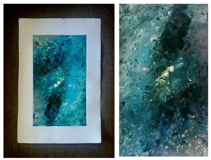 Serie Abstractos. Técnica: Fluid Painting. Medidas: 21 x 29,5. Sin enmarcar. Con paspartú. 60 € + gastos de envío.