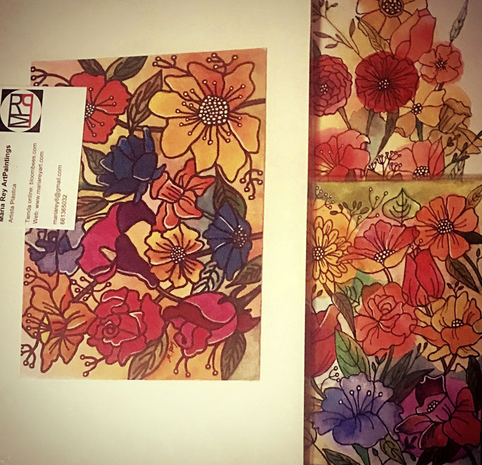Pack de tres pinturas a acuarela y tinta, 14,5 x 19, 12 x 16, 11 x 17. Sin enmarcar. 50 € + gastos de envío.