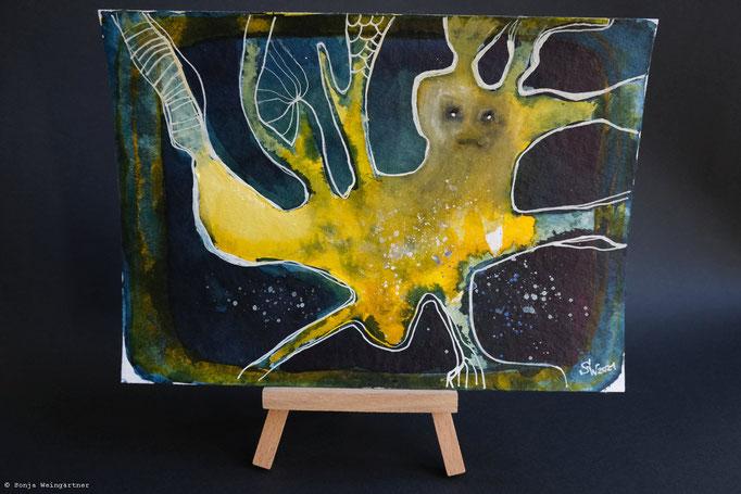 Gelbes Wesen No.2 | 24 x 17 cm | Mischtechnik auf Papier | 125 Euro