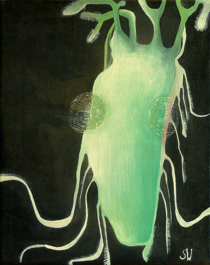 Wirbellos | 2019 | Tusche und Gouache | 32 x 24 cm