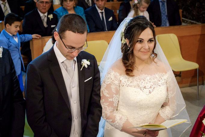 Braut und Bräutigam beim Ja-Wort