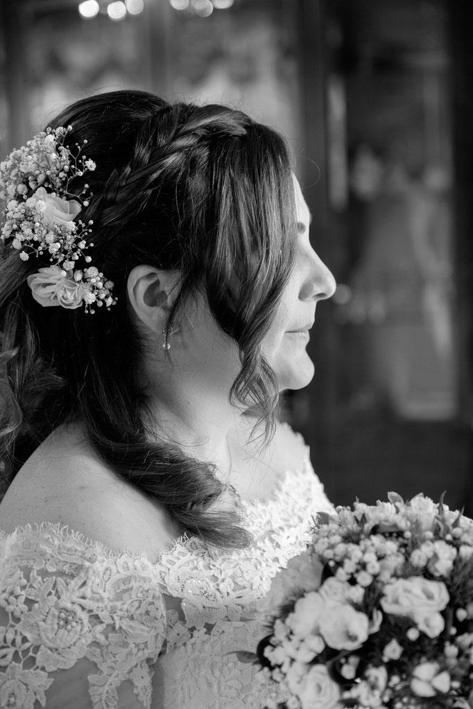 Braut von der Seite